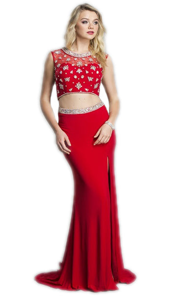 Two Piece Embellished Evening Dress