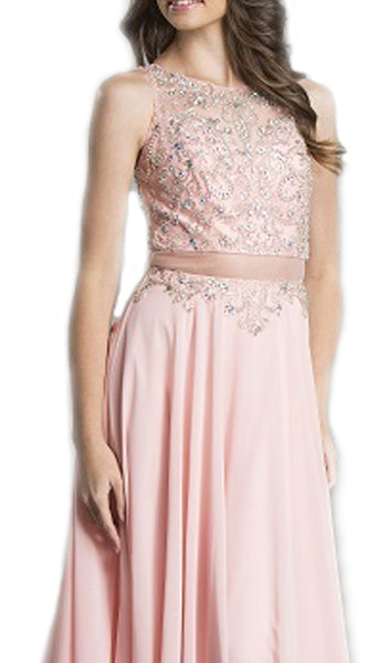 Embellished Fitted A-Line Evening Gown - ADASA