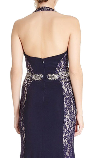 Lace Halter Sheath Evening Dress