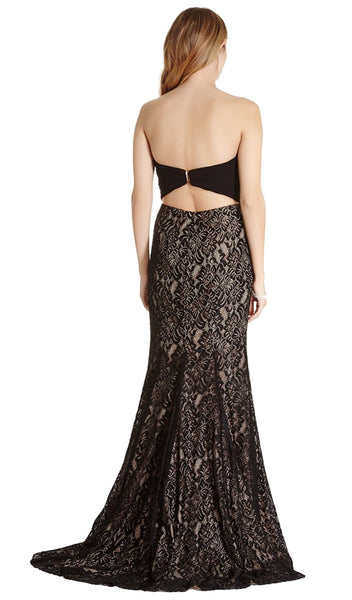 Strapless Ruched Sweetheart Lace Evening Dress