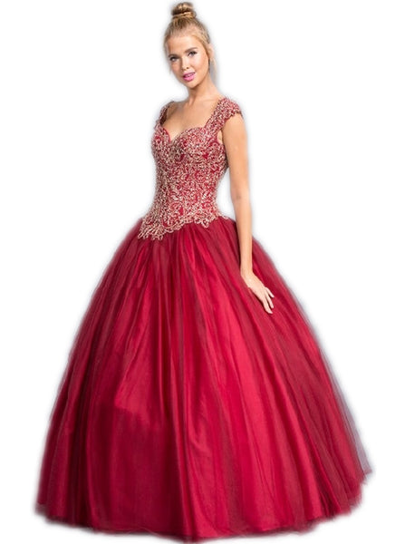 Embellished Sweetheart Evening Ballgown