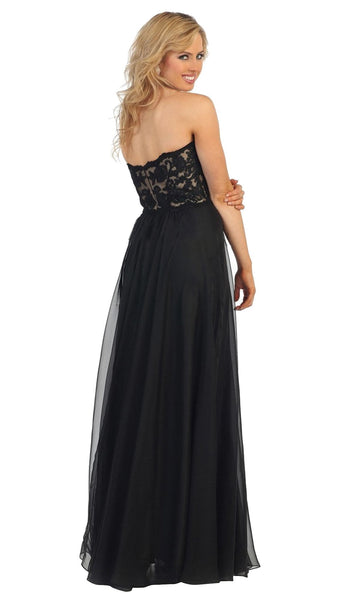 Lace Sweetheart A-line Evening Dress