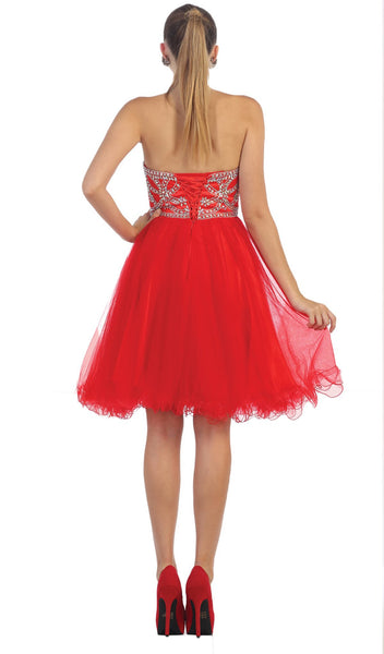 Strapless Sweetheart A-line Cocktail Dress