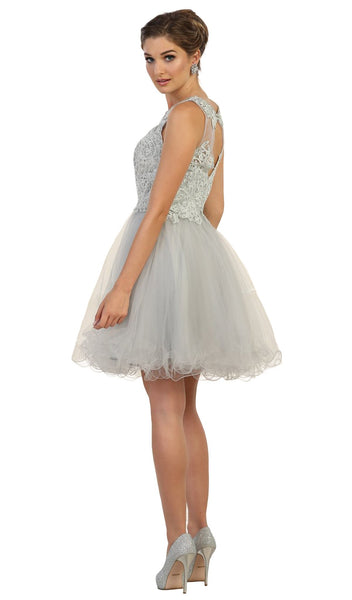 Embellished Jewel A-line Homecoming Dress