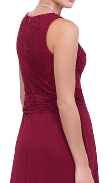Lace Scoop Neck A-line Dress