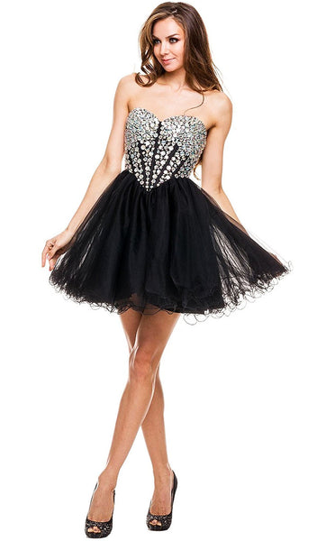 Sweetheart Neckline Corset Style Cocktail Dress