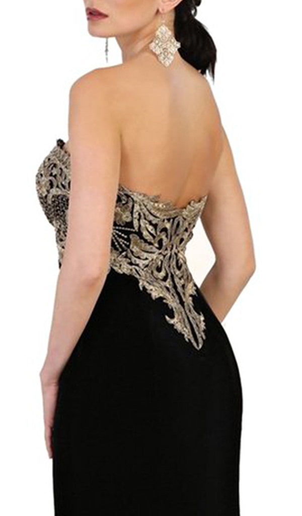 Embroidered Sweetheart Sheath Prom Dress