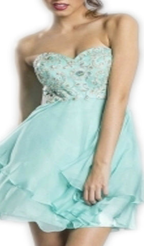 Embellished Sweetheart Homecoming Dress