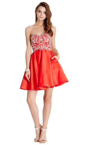 Strapless A-line Homecoming Dress