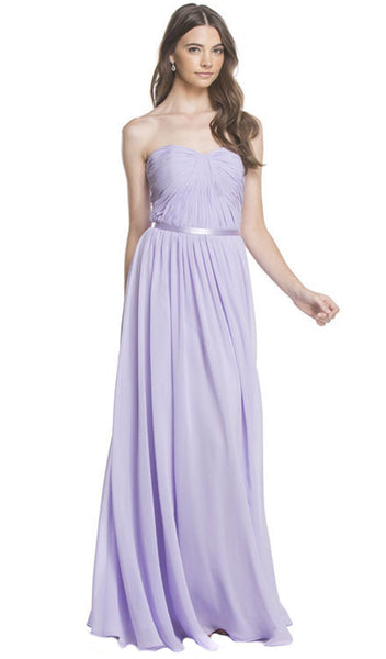 Strapless Ruched A-Line Evening Dress