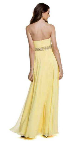 Strapless Ruched Evening A-Line Dress