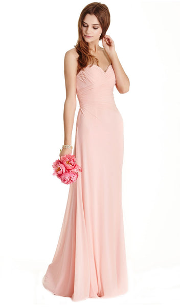 Ruched Sweetheart Evening Sheath Dress