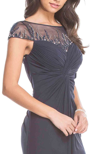 Jeweled Ruched Sheath Mother of Bride Dress