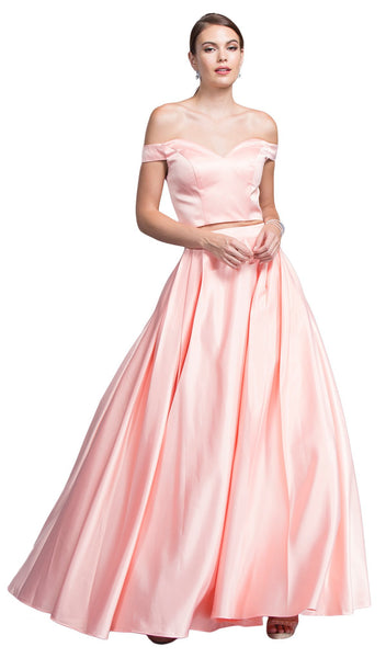 Two Piece Off-Shoulder Evening Ballgown