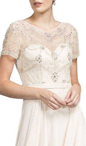 Lace Embellished Sheath Prom Dress