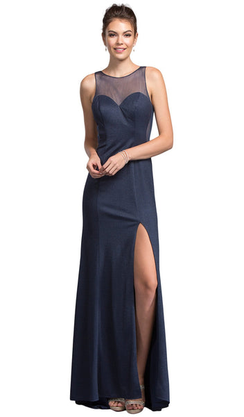 Chic Illusion Bateau Sheath Prom Dress