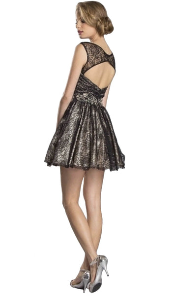 Embellished Lace A-line Homecoming Dress
