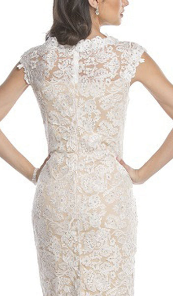 Knee Length Lace Mother of Bride Dress