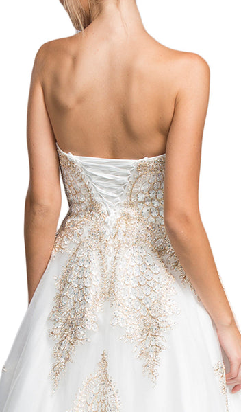 Bedazzled Strapless Sweetheart A-line Prom Dress - ADASA