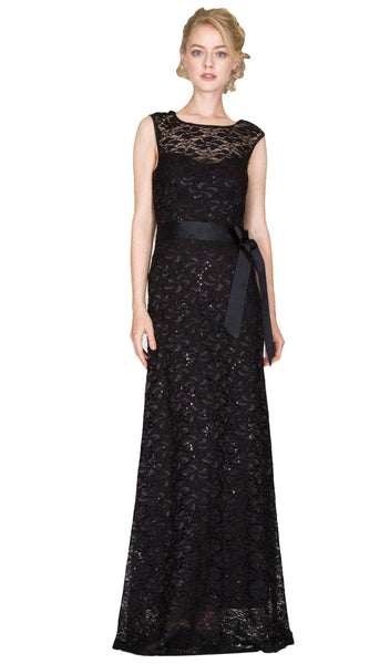 Lace Cap Sleeve Illusion Bateau Sheath Dress