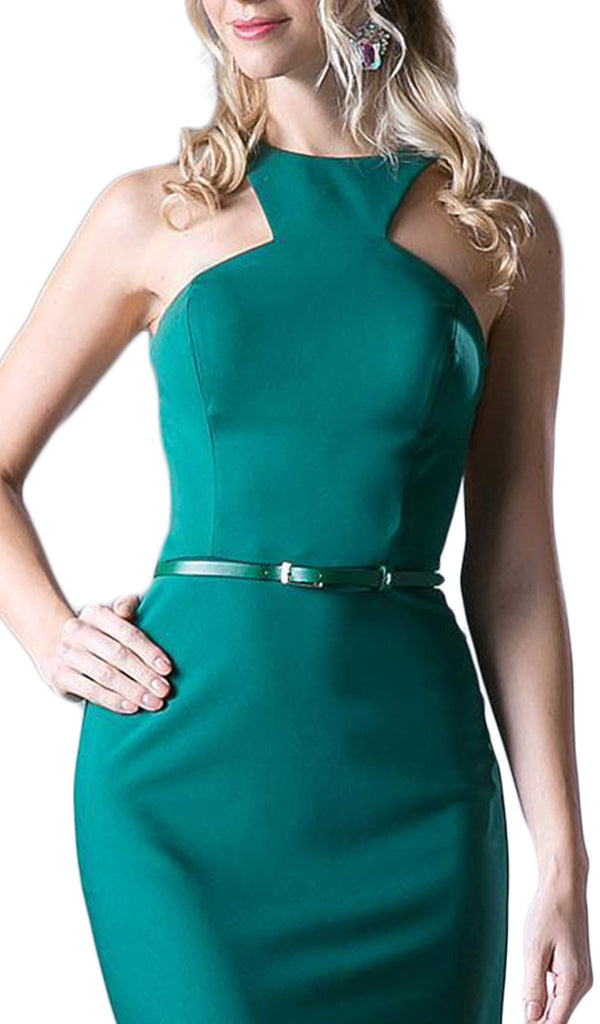 Sleeveless Halter Neck Cocktail Dress