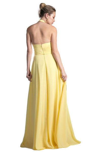 Sleeveless Sleek Halter A-line Dress