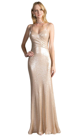 Sequined Ruched Sweetheart Sheath Evening Dress