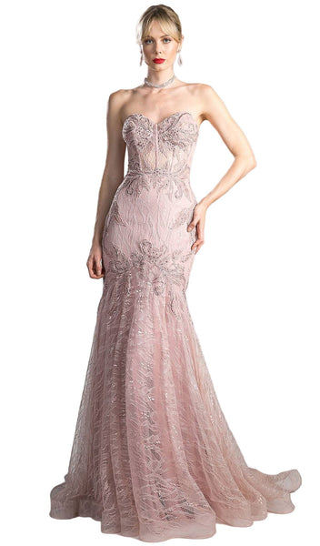 Embellished Lace Sweetheart Corset Trumpet Dress