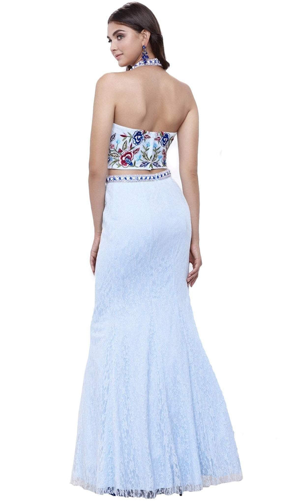 Nox Anabel - 8262 Two Piece Embroidered Mermaid Dress