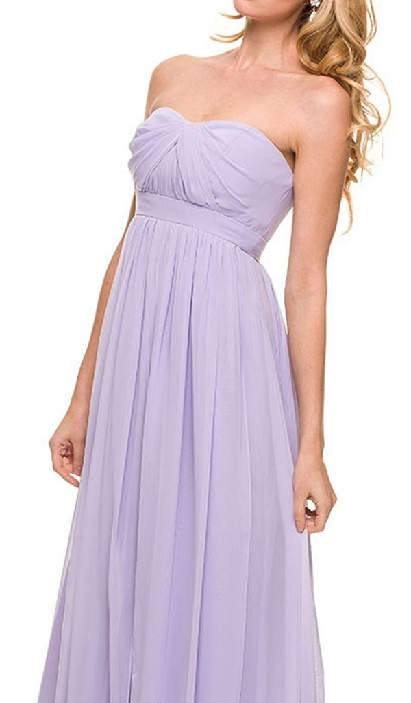 Pleated Sweetheart A-line Long Formal Gown