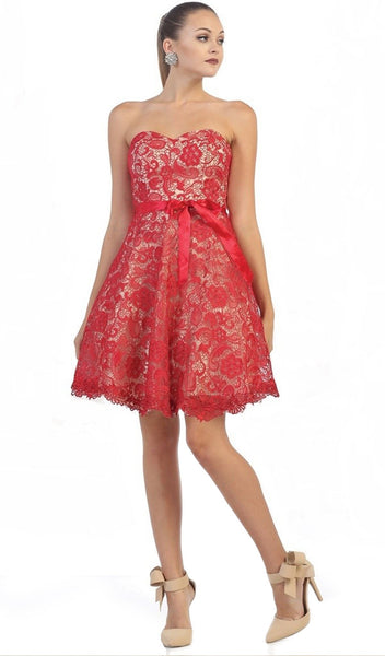 Lace Sweetheart A-line Cocktail Dress