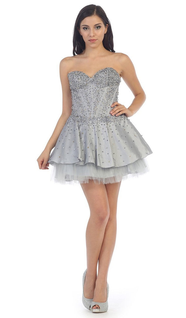 Sparkly Sweetheart Taffeta A-line Cocktail Dress