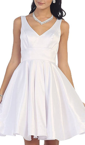 Charming V-Neck and Back A-Line Homecoming Dress