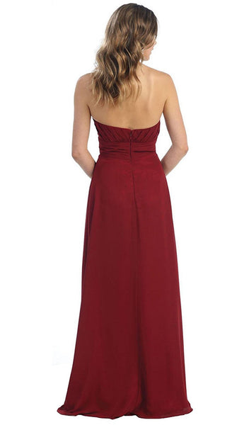 Strapless Sweetheart Empire Waist Long Formal Dress