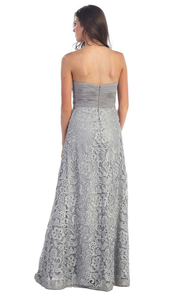 Baroque Lace Sweetheart Evening Dress with Bolero - ADASA
