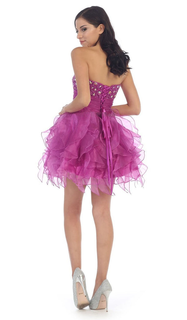 Dazzling Jeweled Sweetheart Tulle Prom Dress - ADASA