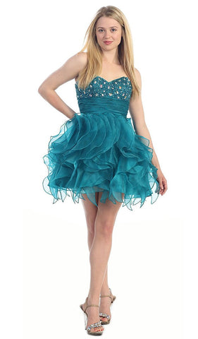 Dazzling Jeweled Sweetheart Tulle Prom Dress