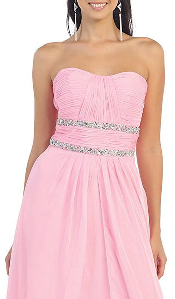 Shirred Ornate Sweetheart A-Line Long Prom Dress