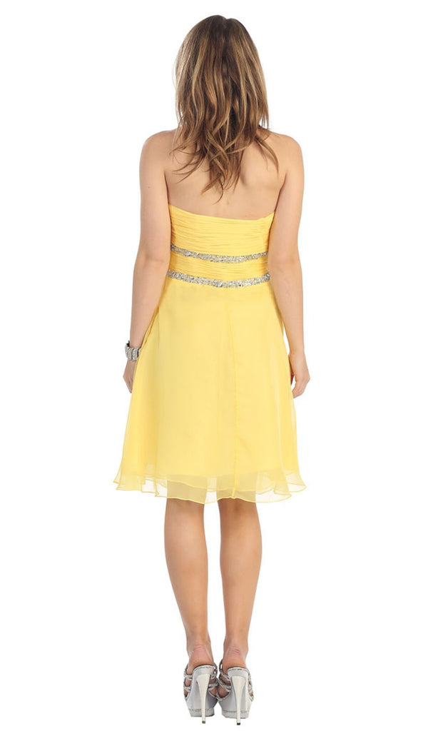 Strapless Ruched Sweetheart A-Line Cocktail Dress