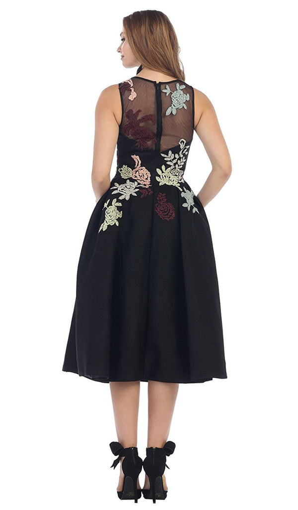 Embroidered Magic Floral Cocktail Dress