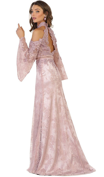 Charming Cold Shoulder Lace Evening Gown - ADASA
