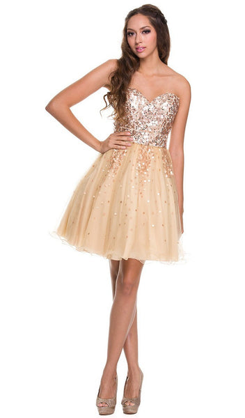 Sparkling Sequined Cocktail Dress