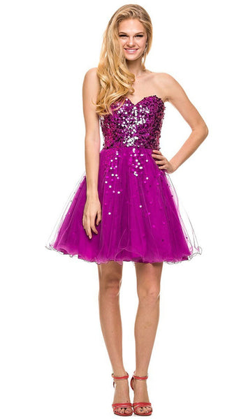Nox Anabel - 2837 Sparkling Sequined Cocktail Dress