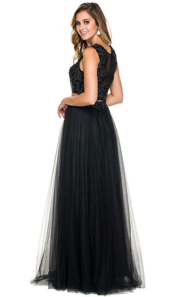 Two-Piece Tulle Evening Dress