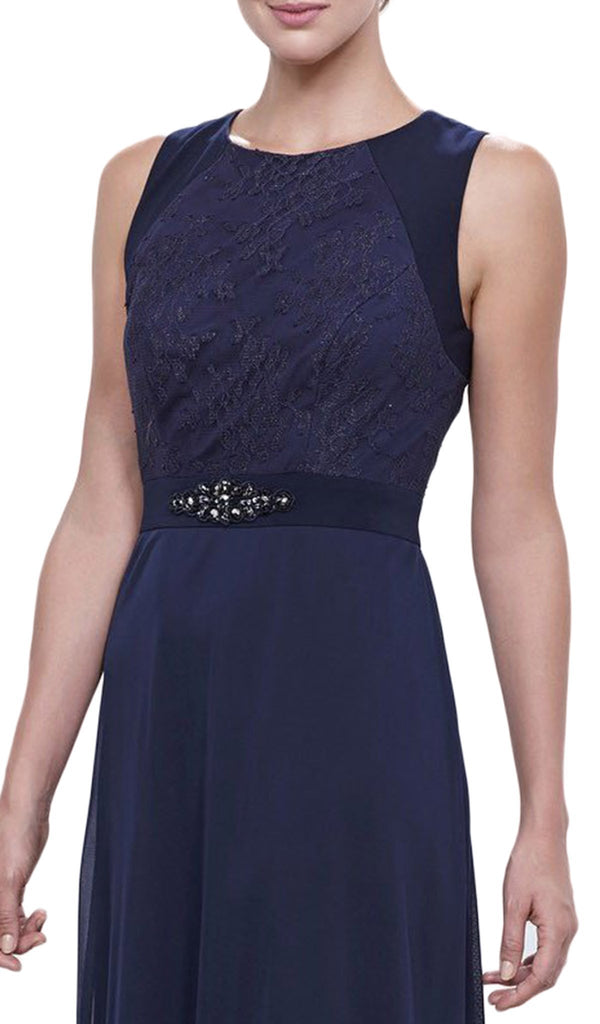 Lace Bodice Evening Dress