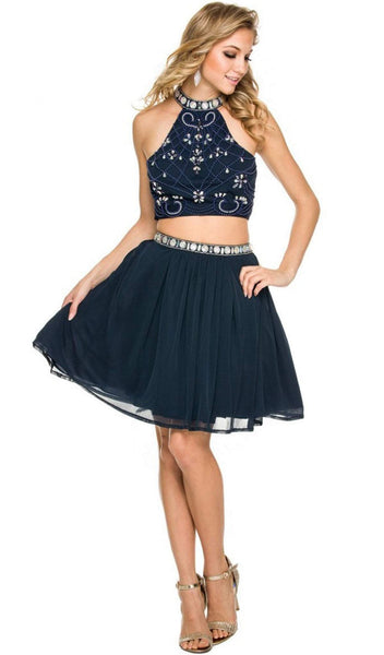 Nox Anabel - 6165 Two Piece Halter Dress