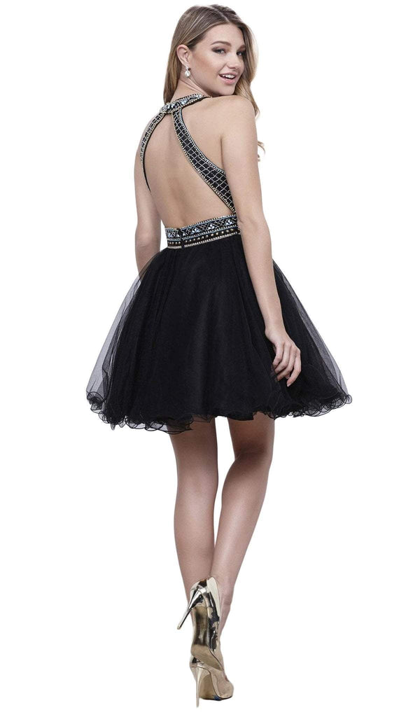 Nox Anabel - 6260 High Halter Keyhole Embellished Dress