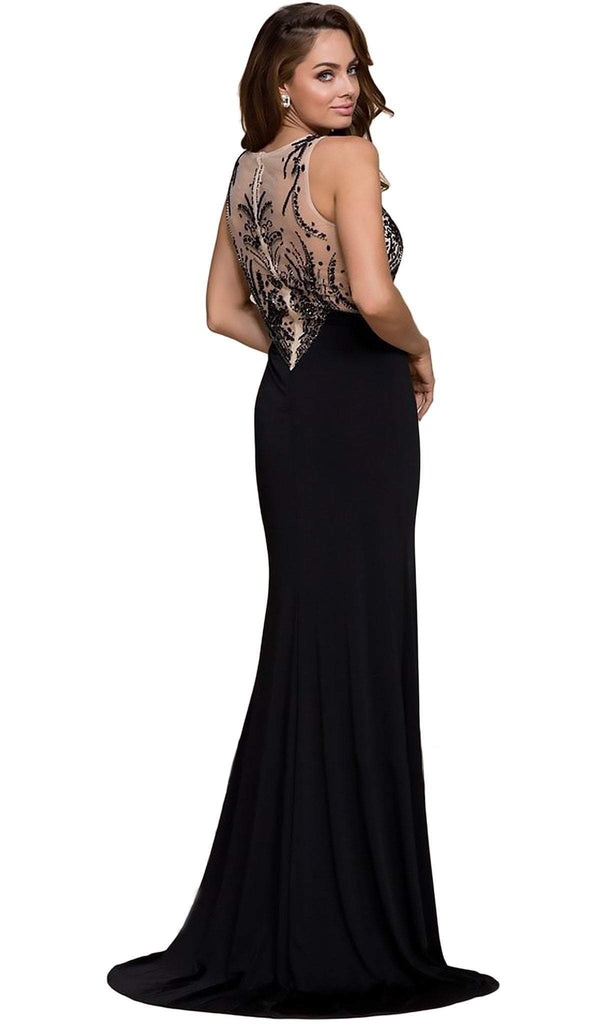 Nox Anabel - 8216 Sleeveless Beaded Long Gown with Slit