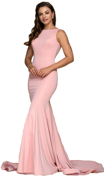 Sleek Bateau Trumpet Dress