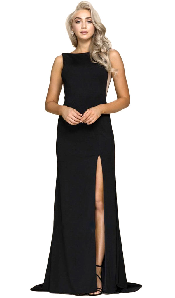 Nox Anabel - C024 Alluring Bateau Neck Sheath Dress